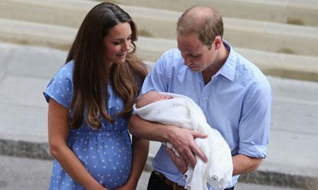 Royal baby leaves hospital