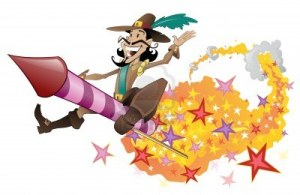 10824102-guy-fawkes-flying-on-a-firework-rocket