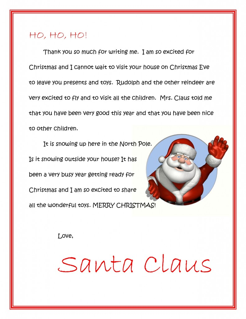 letter to santa allaboutmanners With a letter from santa