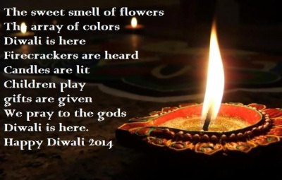 Diwali 2014 HD Greetings With Poems Romantic Word Free Download